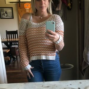 ROXY- Fall/spring off the shoulder sweater